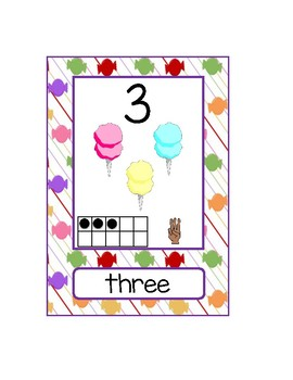 Candyland Themed Numbers 1 - 20