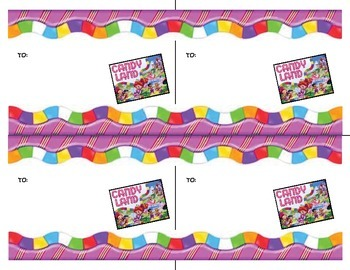 Candyland Themed Welcome Back to School Post Card