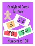 Candyland cards for prek (numbers up to 100)