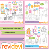 Candyland clipart: Candy shop clip art bundle (3 packs)