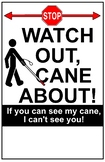 White Cane Users Poster