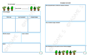 Canevas de planification (stage) / Planning canvas (internship)