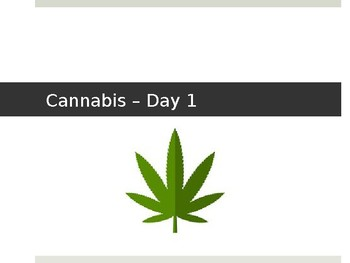 Cannabis Lesson 1