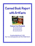 Canned Book Report Project with Artifacts & Rubric
