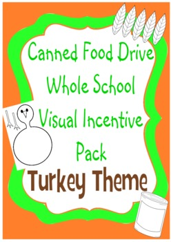 Canned Food Drive Competition Whole School Visual Incentive - Turkey Theme