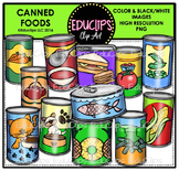 Canned Foods Clip Art Bundle {Educlips Clipart}