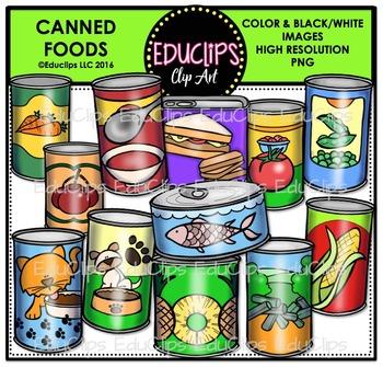 Canned Foods Clip Art Bundle {Educlips Clipart}