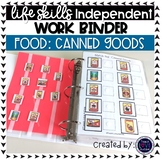 Canned Goods Work Tasks or File Folders