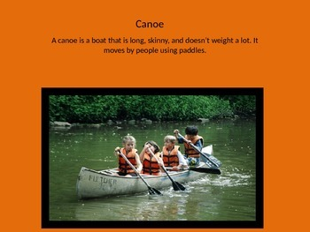 Canoe PowerPoint Writing Prompt