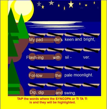 Canoe Song~ Native American~ Syncopa-SMARTBOARD