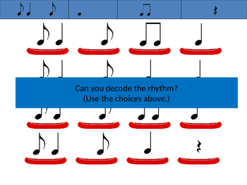 Canoe Song:Solfege and Rhythm with Orff Instrument parts, and Body Percussion