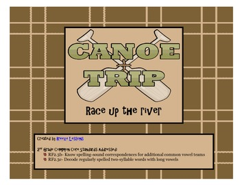 Canoe Trip Race Up The River ELA Foundational Skills Game