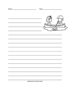 Canoe Trip Writing Paper Set