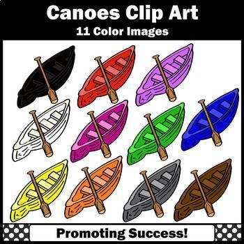 Canoes Clipart for Camping Unit, Colors Clip Art, Transportation Clip Art SPS