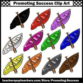 Canoe Clipart, Camping Clip Art, SPS