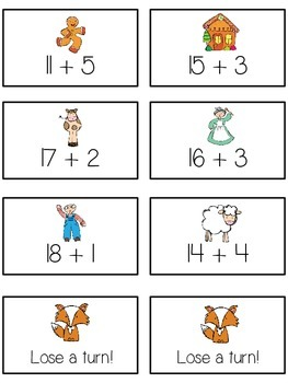 Can't Catch Me Math Folder Game - Common Core - Adding 10 to 20