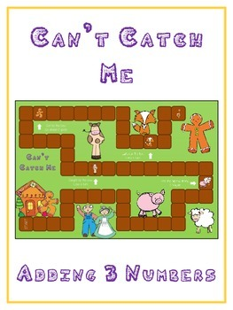 Can't Catch Me Math Folder Game - Common Core - Adding Three 3 Numbers