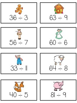 Can't Catch Me Math Folder Game - Common Core - Division - Dividing Numbers
