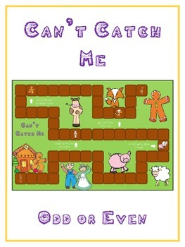 Can't Catch Me Math Folder Game - Common Core - Even and Odd Numbers