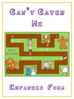 Can't Catch Me Math Folder Game - Common Core - Expanded Form