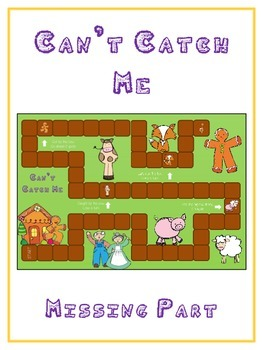 Can't Catch Me Math Folder Game - Common Core - Finding the Missing Part