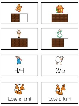 Can't Catch Me Math Folder Game - Common Core - Fractions
