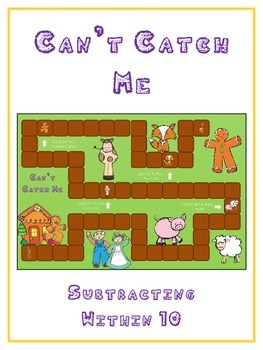Can't Catch Me Math Folder Game - Common Core - Subtractin