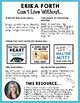 Article Analysis One Pager - Can't Live Without Erika Forth's Free Resource