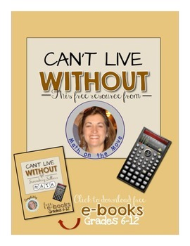 Can't Live Without It eBook:  Inequalities Worksheet