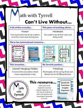 Can't Live Without Math with Tyrrell's Free Resources