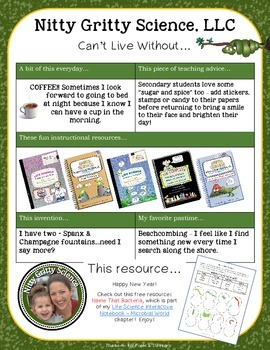 Can't Live Without Nitty Gritty's Free Resource