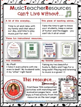 Can't Live Without it MusicTeacherResources FREE resource