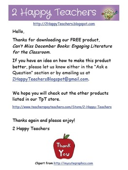 Can't Miss December Books: Engaging Literature for the Classroom