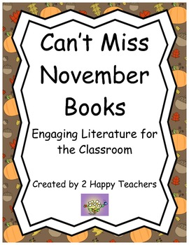 Can't Miss November Books: Engaging Literature for the Classroom