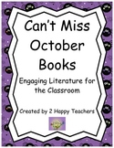 Can't Miss October Books: Engaging Literature for the Classroom