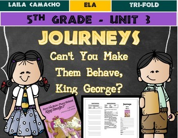 Journeys Grade 5 Trifold (Can't You Make Them Behave, King