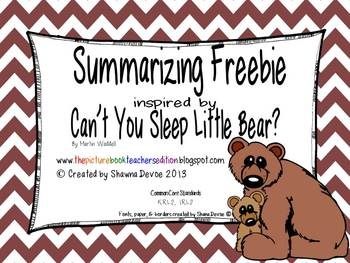Summarizing inspired by Can't You Sleep Little Bear? by Martin Waddell