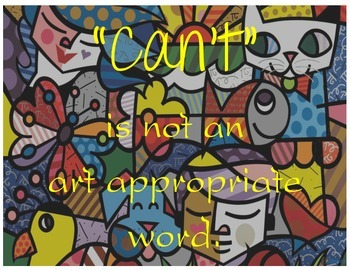 Can't is not an art appropriate word