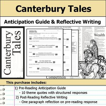Canterbury Tales - Anticipation Guide & Reflection