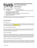 Canterbury Tales Background Information Groupwork Activity and Quiz