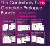 Canterbury Tales Bundle of Prologue Questions - 16 Documen