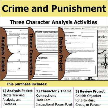 Crime and Punishment - Character Analysis Packet, Theme Connections, & Project