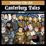 Canterbury Tales Clip-Art Set 2! 22 BW and Color Pieces.