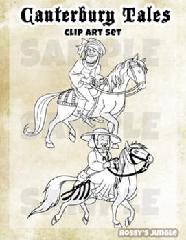 Canterbury Tales Clip Art set