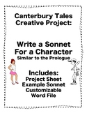 Canterbury Tales: Creative Sonnet Writing Project