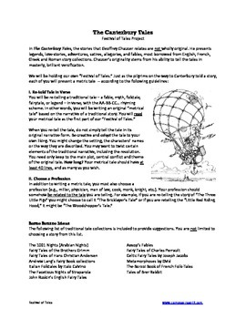 Canterbury Tales -- Fetival of Tales Creative Writing Assignment