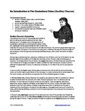 Canterbury Tales -- Handout -- Introduction & Background I