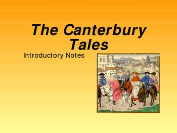 Canterbury Tales Intro Notes