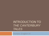 Canterbury Tales Introduction PowerPoint
