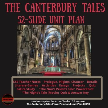 literature the canterbury tales powerpoint and unit plan by connie literature the canterbury tales powerpoint and unit plan